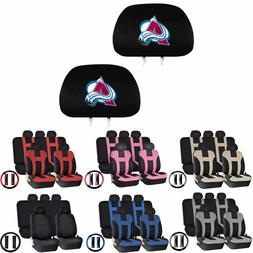 14PC Universal-fit Car Seat Covers Steering Set for NHL Colo