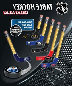 2 NEW NHL TABLE HOCKEY MINI PUCKS & BLADES OFFICIALLY LICENS