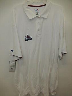 9925- Mens Majestic COLORADO AVALANCHE Polo Golf Jersey SHIR