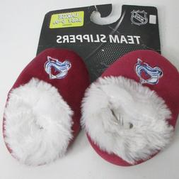 Avalanche Colorado NHL Slippers Infant Baby 6-9 month aprox