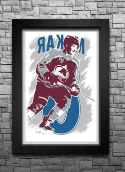 CALE MAKAR art print/poster COLORADO AVALANCHE FREE S&H! JER