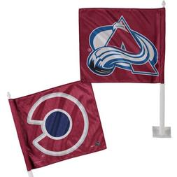 """Colorado Avalanche WinCraft 11"""" x 13"""" Double-Sided Car Flag"""