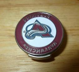 """Colorado Avalanche 2 sided Golf Ball marker 1"""" & hat clip ~"""