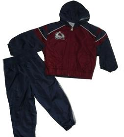 Colorado Avalanche 2pc Windsuit Jacket & Pants Set Navy Baby