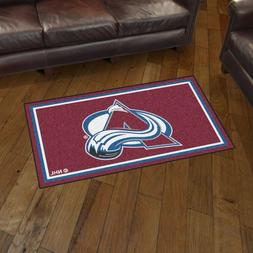 Colorado Avalanche 3' X 5' Decorative Ultra Plush Carpet Are