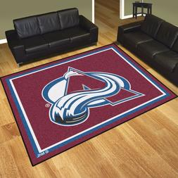 Colorado Avalanche 8' X 10' Decorative Ultra Plush Carpet Ar