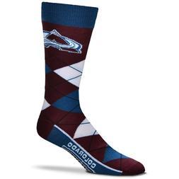 Colorado Avalanche For Bare Feet Argyle Crew Socks