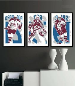 COLORADO AVALANCHE art print/poster FAN PACK #1 3 PRINTS! JO