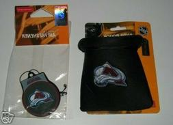 COLORADO AVALANCHE AUTO CAR POUCH CASE & AIR FRESHENER