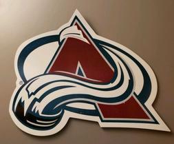 """WinCraft Colorado Avalanche AVS Hockey 3X3.5"""" Die-Cut Car Ma"""