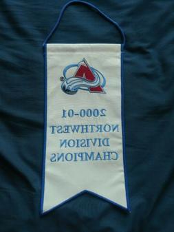 COLORADO AVALANCHE Banner * 2000-01 Division Champions