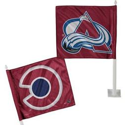 """WinCraft Colorado Avalanche Burgundy 11"""" x 13"""" Double-Sided"""