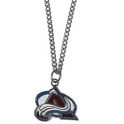 "colorado avalanche charm nhl hockey necklace 22"" chain"