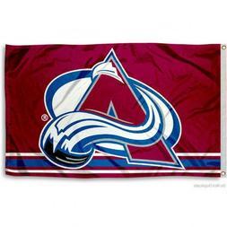 COLORADO AVALANCHE FLAG 3'X5' NHL LOGO BANNER: FAST FREE SHI