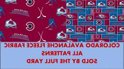 Colorado Avalanche Fleece Fabric-NHL Fleece Blanket Fabric S