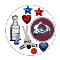 Colorado Avalanche Floating Locket Charms and Birthstones