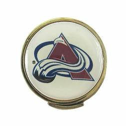 Colorado Avalanche Golfers Hat Clip with Golf Ball Marker
