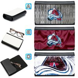 Colorado Avalanche Leather Eye Glasses Case Sunglasses Box P