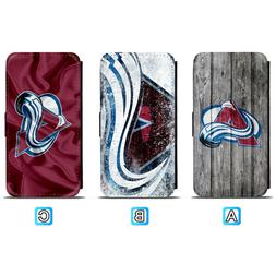 Colorado Avalanche Leather Flip Case For iPhone X Xs Max Xr