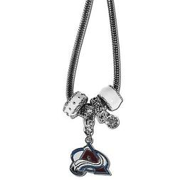 """colorado avalanche licensed nhl euro bead necklace with 18"""""""