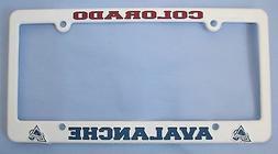COLORADO AVALANCHE NHL CAR TRUCK PLASTIC LICENSE PLATE TAG F