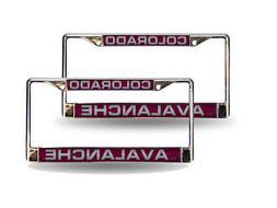 Colorado Avalanche NHL Chrome Metal  Laser Cut License Plate