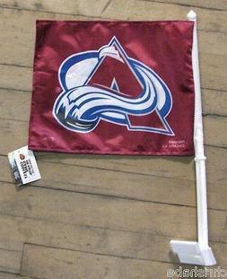 COLORADO AVALANCHE NHL HOCKEY DOUBLE SIDED CAR FLAG FREE SHI
