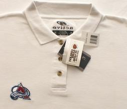 Colorado Avalanche NHL Hockey Embroidered White Polo Golf Sh