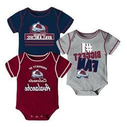 Colorado Avalanche NHL Infant Maroon/Navy/Grey #1 Fan 3 Piec