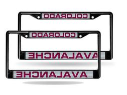 Colorado Avalanche NHL Laser Cut Black License Plate Frame
