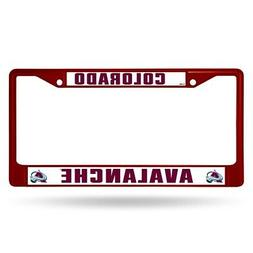 Colorado Avalanche NHL Licensed Maroon Painted Chrome Metal