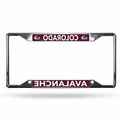 Colorado Avalanche NHL Lightweight Chrome Metal License Plat