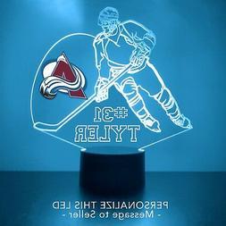 Colorado Avalanche NHL Night Lamp, Personalized FREE, Hockey