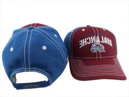 colorado avalanche nhl rd ble structured adjustable