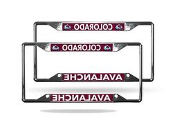 Colorado Avalanche NHL  Lightweight Chrome Metal License Pla