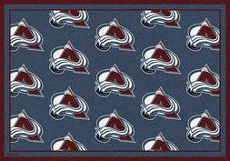 colorado avalanche nhl team repeat area rug