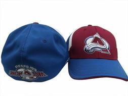Colorado Avalanche Reebok NHL Wte/Blue Structured FlexFit Ha