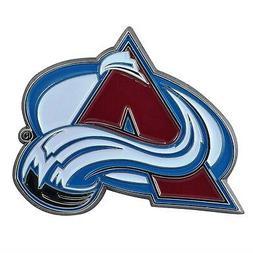 Colorado Avalanche Premium Solid Metal COLOR Auto Emblem Rai