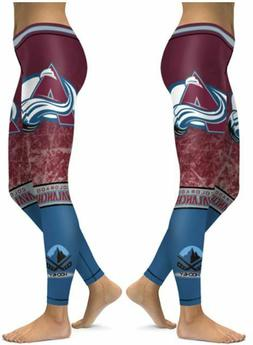 Colorado Avalanche Small to 2X-Large Womens Leggings