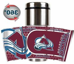 colorado avalanche stainless steel 16oz travel tumbler
