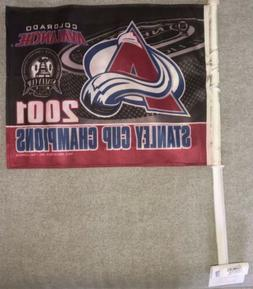 Colorado Avalanche Stanley Cup Champions Car Flag NEW