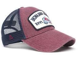 colorado avalanche vintage nhl trucker hat cap