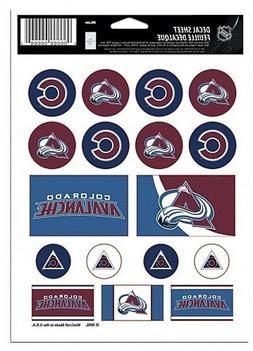 Colorado Avalanche Vinyl Die-Cut Sticker Set / Decal Sheet *