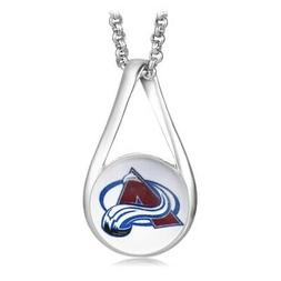 Colorado Avalanche Womens 925 Silver Link Necklace With Pend
