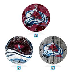 Colorado Avalanche Wood Wall Clock Gift Round Office Home Ro