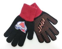 Colorado Avalanche NHL Youth Winter Knit Utility Grip Gloves