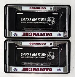 Colorado Avalanche Chrome License Plate Frames - Set of 2