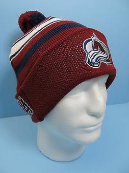 Hockey Colorado Avalanche Pom Knit Hat Avalanche Hockey Appa