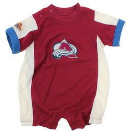 NHL Infant Colorado Avalanche Embroidered Romper, Burgundy