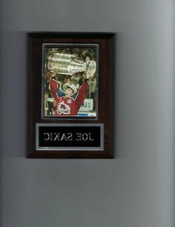 JOE SAKIC PLAQUE COLORADO AVALANCHE HOCKEY NHL